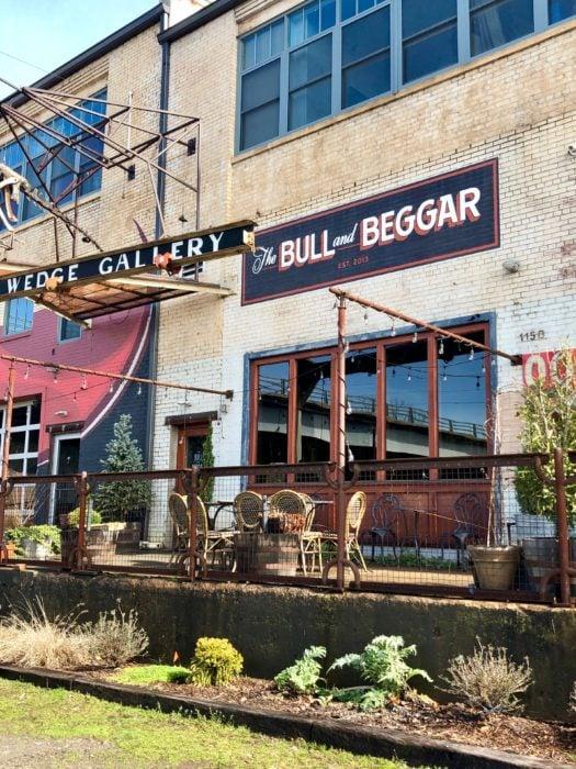 Bull and Beggar restaurant in Asheville