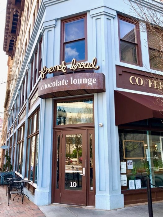 front door of the French Broad Chocolate Lounge