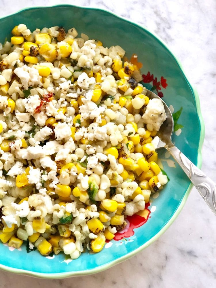 corn in a skillet