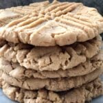 stack of peanut butter cookies like the school cafeteria ladies used to make