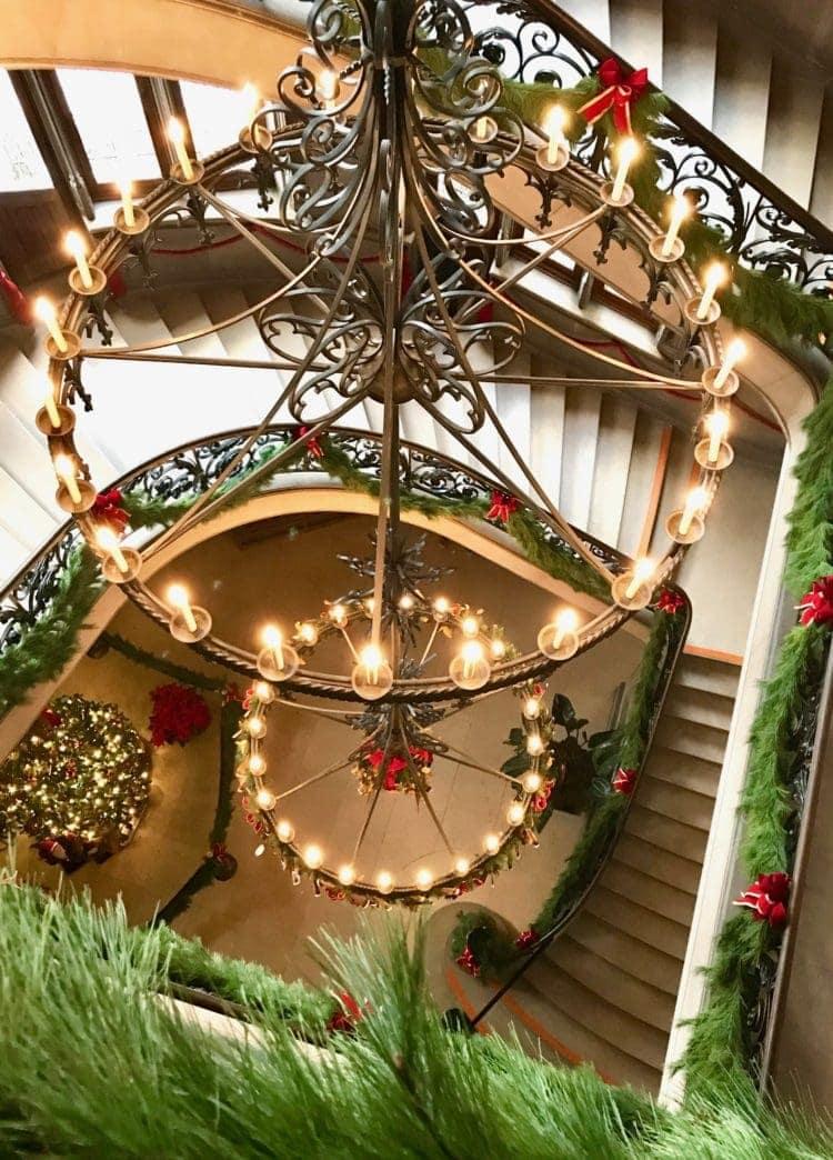 spiral staircase at biltmore estate, asheville nc