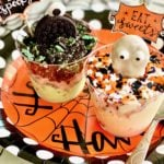 halloween ice cream cup critters on a halloween plate
