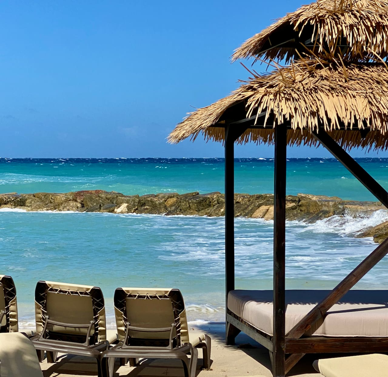 beach hut at the Hyatt Zilara Rose Hall, Jamaica