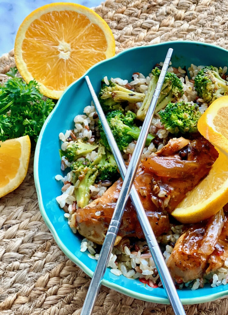 jerk chicken rice bowl