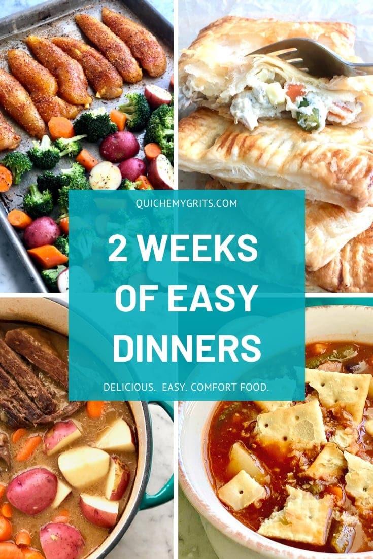 2 weeks of easy dinners