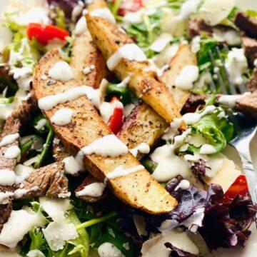 steak & potato salad with ranch dressing