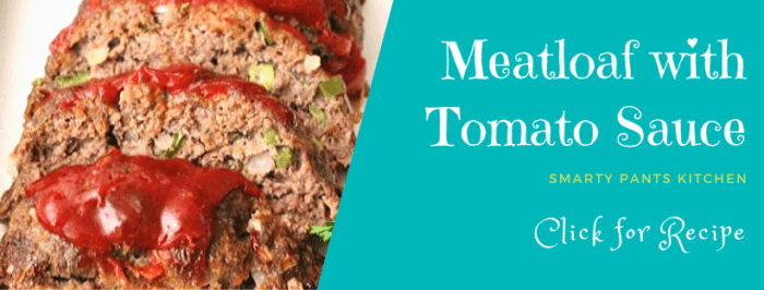 meatloaf cut in slices with tomato sauce on top