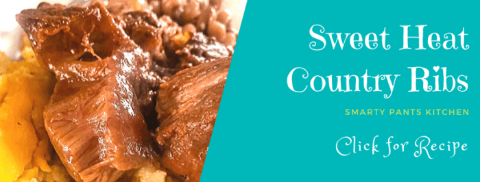 country ribs on a plate with gouda grits