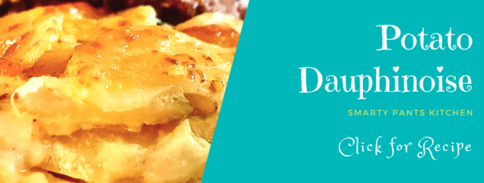 potato dauphinoise browned on top