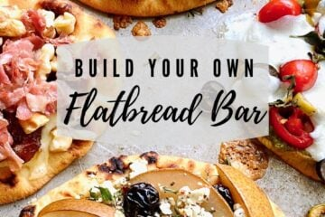 graphic with four different flatbreads entitled Build Your Own Flatbread Bar
