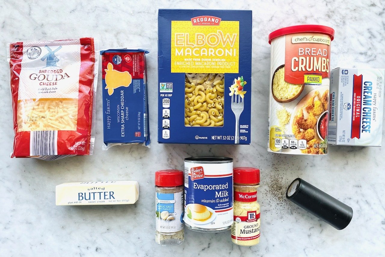 ingredients needed to make mac and cheese.