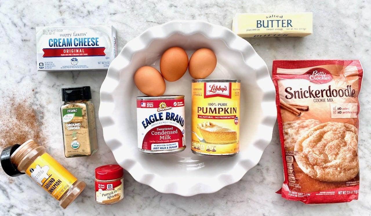 ingredients needed for snickerdoodle pumpkin pie.