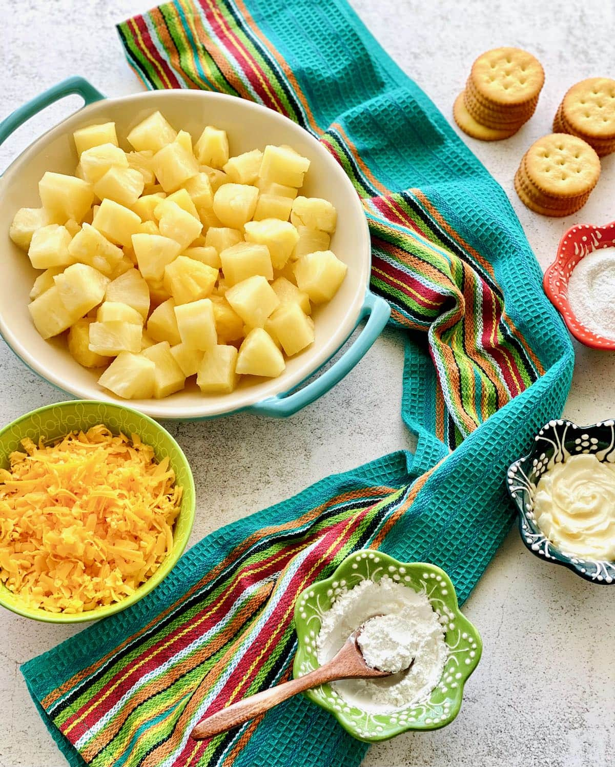 ingredients needed for pineapple casserole.