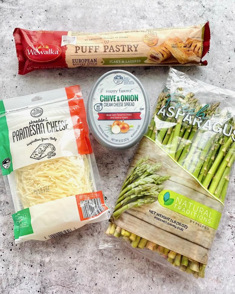 ingredients needed for puff pastry asparagus.