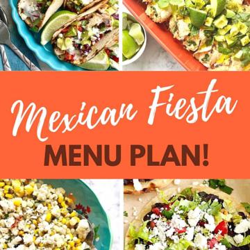 fiesta menu plan with four recipes