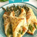 puff pastry wrapped around asparagus with cheese