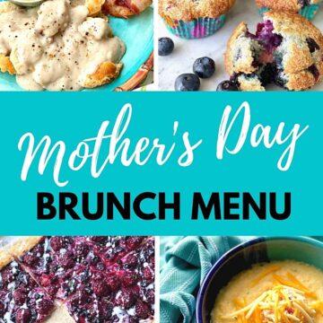 mother's day brunch menu.
