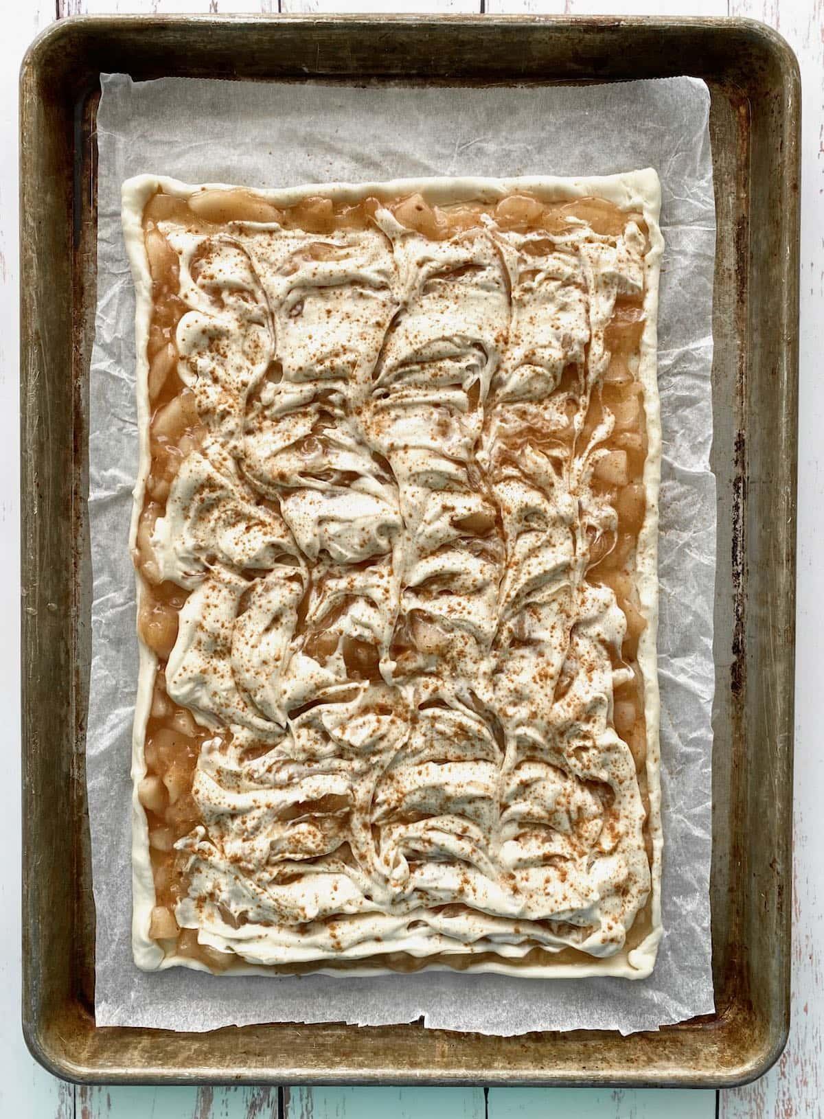 cream cheese swirled into puff pastry.